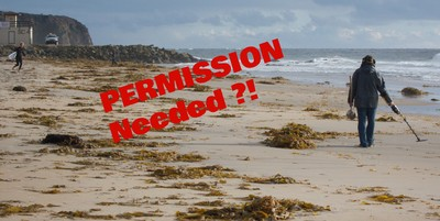 Permission To Metal Detect On The Beach